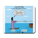 Jesus Waterskiing Mousepad