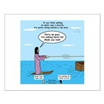 Jesus Waterskiing Small Poster