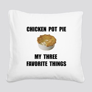 Chicken Pot Pie Square Canvas Pillow