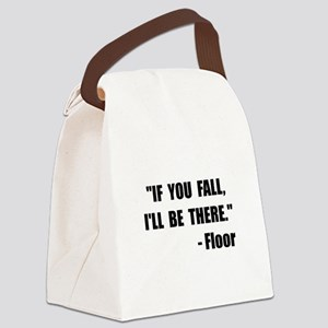 Fall Floor Quote Canvas Lunch Bag