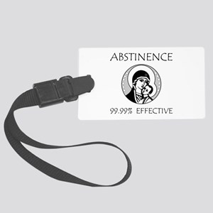 Abstinence Effective Large Luggage Tag