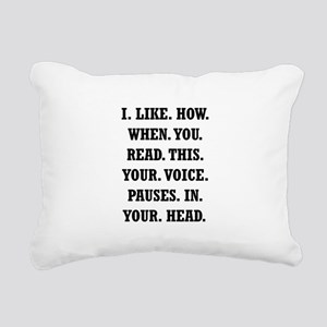 Voice Pause Rectangular Canvas Pillow