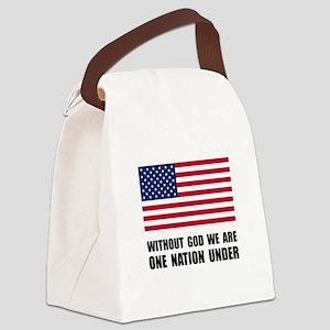 One Nation Under God Canvas Lunch Bag