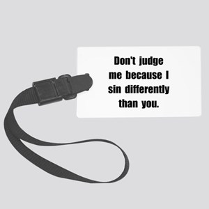 Sin Differently Large Luggage Tag