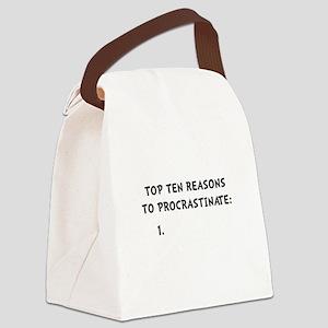 Procrastinate Canvas Lunch Bag