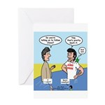 The First Jesus Freak Greeting Card