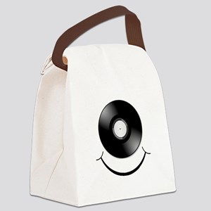 Vinyl Smile Black Canvas Lunch Bag