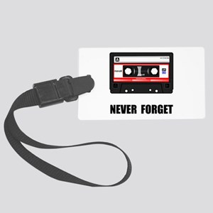 Never Forget Cassette Black Large Luggage Tag