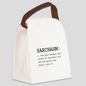 Sarchasm Definition Black Canvas Lunch Bag