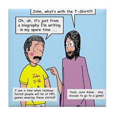 John's 3:16 T-Shirt Tile Coaster