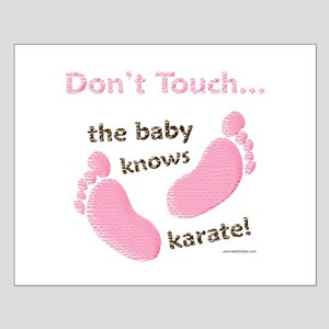 Karate Baby Green Small Poster