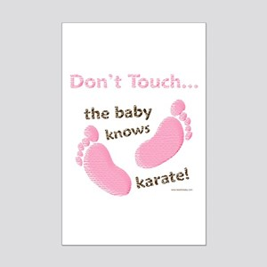 Karate Baby Green Mini Poster Print