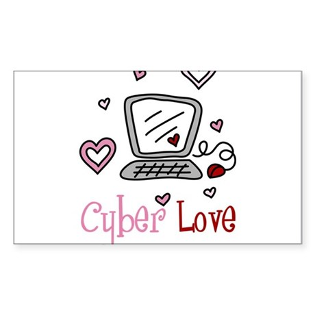 Cyber Love Sticker (Rectangle)