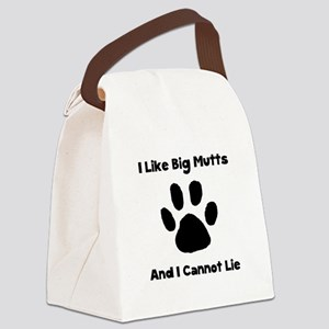 Like Big Mutts Black Canvas Lunch Bag