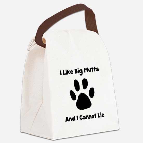 Like Big Mutts Black.png Canvas Lunch Bag
