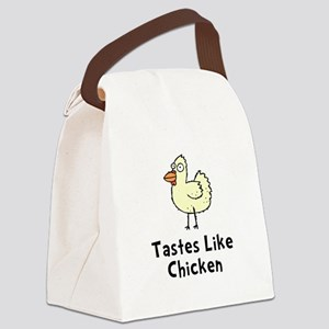 Tastes Like Chicken Black Canvas Lunch Bag
