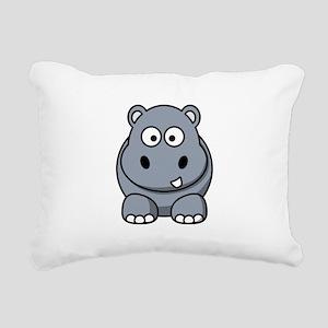 Hippo ONLY Rectangular Canvas Pillow