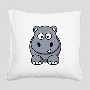 Hippo ONLY Square Canvas Pillow