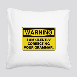 Grammar Correcting Yellow Only Square Canvas P