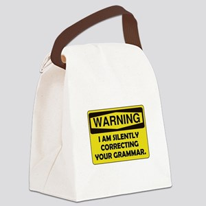 Grammar Correcting Yellow Only Canvas Lunch Ba
