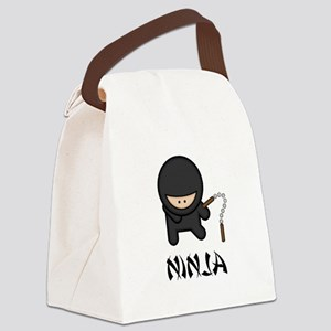 Nunchuck Ninja Black Only Canvas Lunch Bag