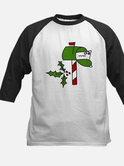 Christmas Mailbox Kids Baseball Jersey