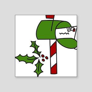 """Christmas Mailbox Square Sticker 3"""" x 3"""""""