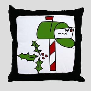 Christmas Mailbox Throw Pillow