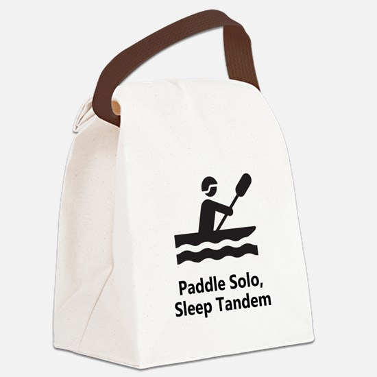 Solo Paddle Black.png Canvas Lunch Bag