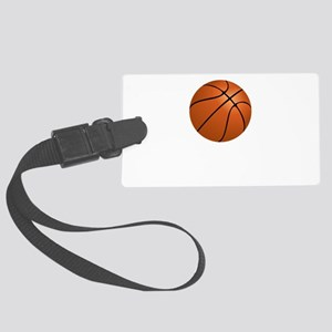 Basketball Smile Black Large Luggage Tag