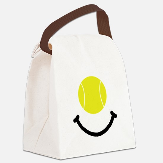 Tennis Smile Black.png Canvas Lunch Bag
