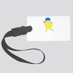 Swimmer Chick Black Large Luggage Tag