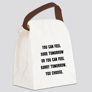 Feel Sore Or Sorry Black Canvas Lunch Bag