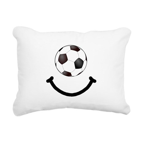 SoccerSmile Black.png Rectangular Canvas Pillow