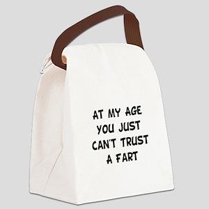 Trust Fart Black Canvas Lunch Bag