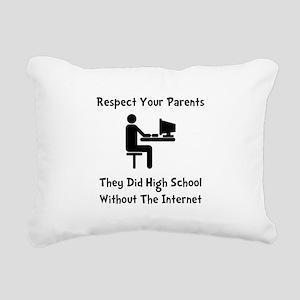 Respect Parents Internet Black Rectangular Can