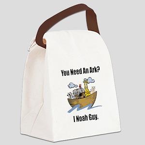 Noah Ark Black Canvas Lunch Bag