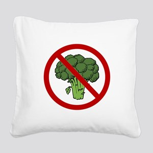 No Broccoli Red Only SOT Square Canvas Pillow