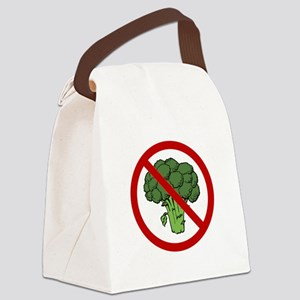 No Broccoli Red Only SOT Canvas Lunch Bag
