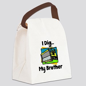Dig Brother Black Canvas Lunch Bag