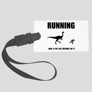 Hate Running Black Large Luggage Tag