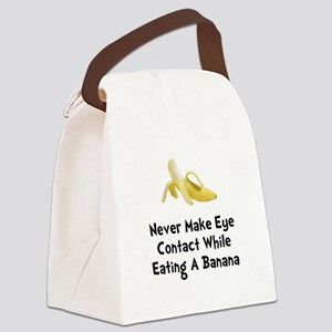 Eye Contact Banana Black Canvas Lunch Bag