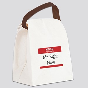 Hello My Name Is Right Now Red ONLY Canvas Lun