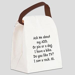 My ADD Black Canvas Lunch Bag