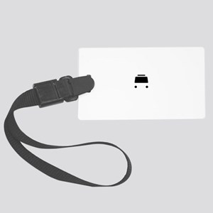 Bus To Hell Black Large Luggage Tag
