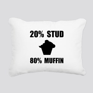 Mostly Muffin Black Rectangular Canvas Pillow