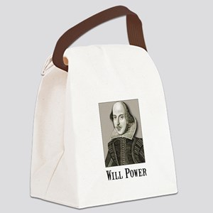 Will Power Black Canvas Lunch Bag