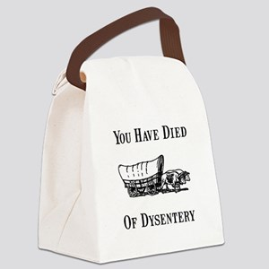 Died Of Dysentery Black Canvas Lunch Bag