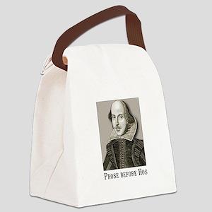Shakespeare Hos Black Canvas Lunch Bag