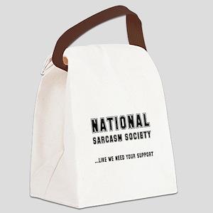 Sarcasim Society Black Canvas Lunch Bag